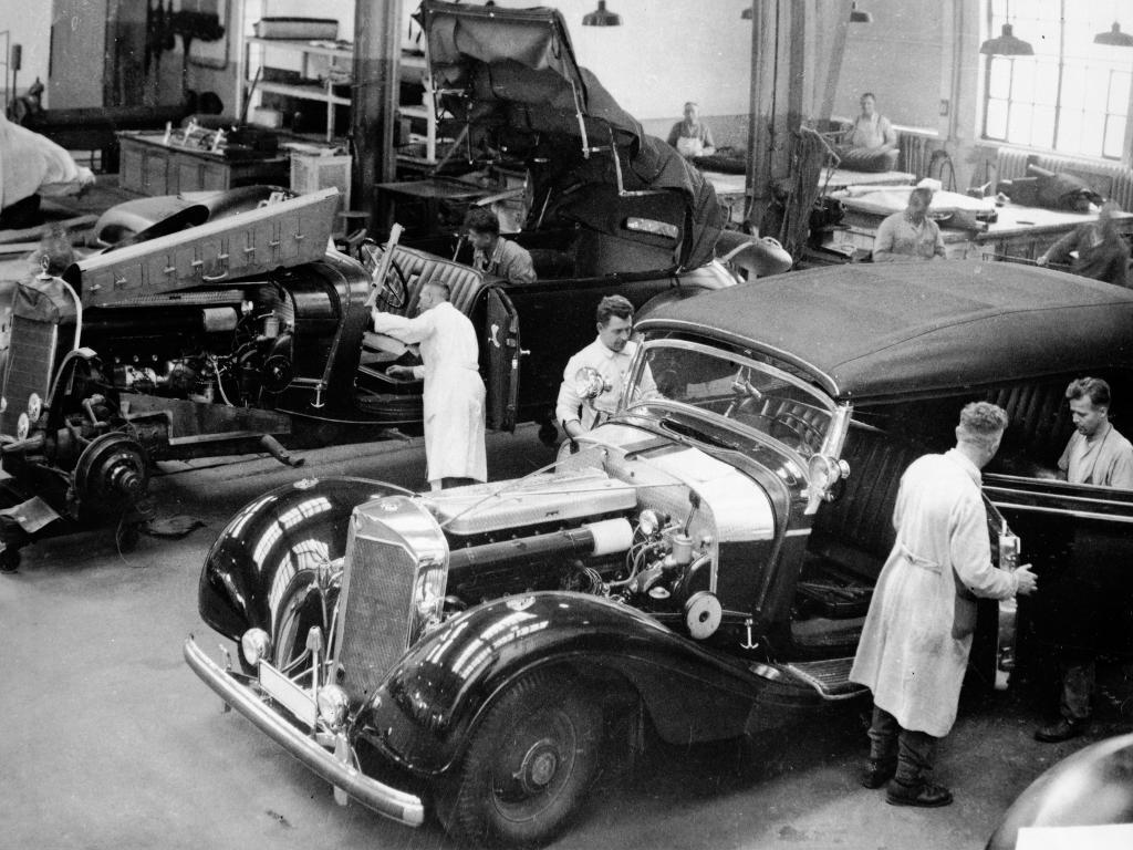Das Performance Studio anno 1932:  Die Abteilung Sonderwagenbau im Werk Sindelfingen. Dort entstanden in Einzelanfertigung Personenwagen.