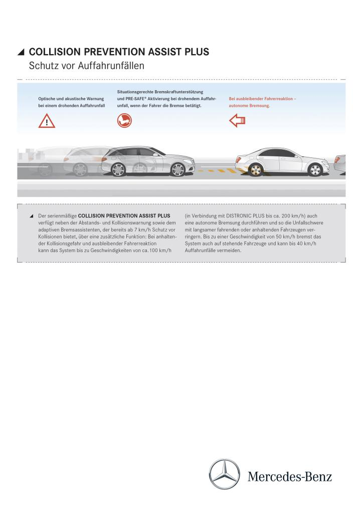Collision prevention assist mbpkw for Mercedes benz collision prevention assist