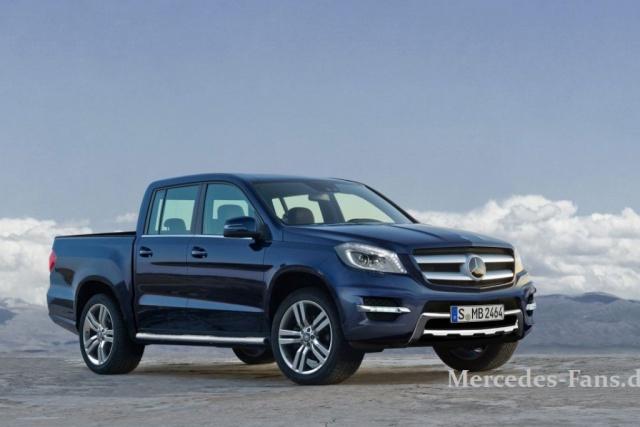 So könnte ein Mercedes-Pick-up auf M-Klasse Basis aussehen (Bild: Mercedes-Fans.de/Christian Schütte)