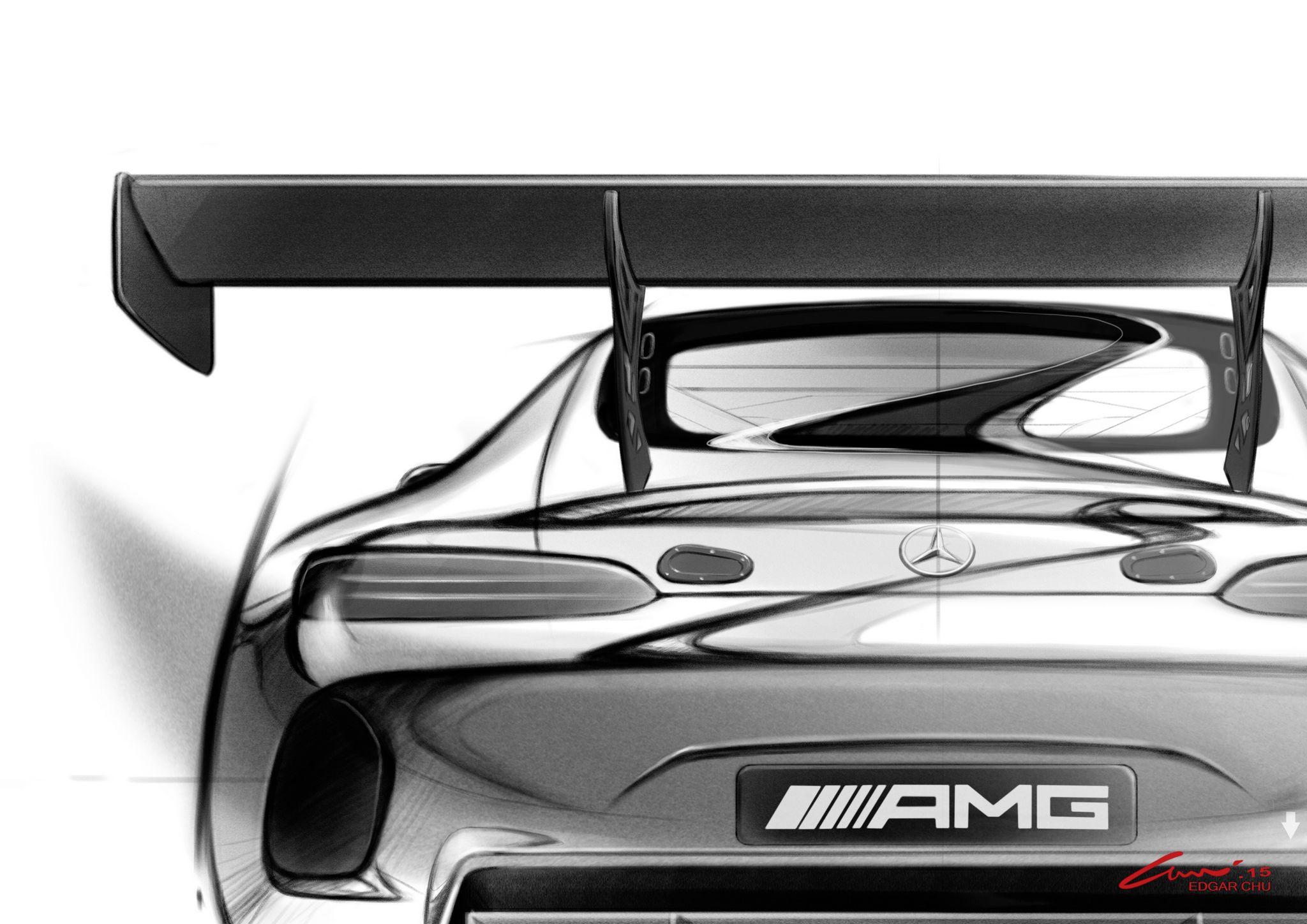 Bullig ist auch das Heck des AMG GT 3 (Bild: Daimler AG)