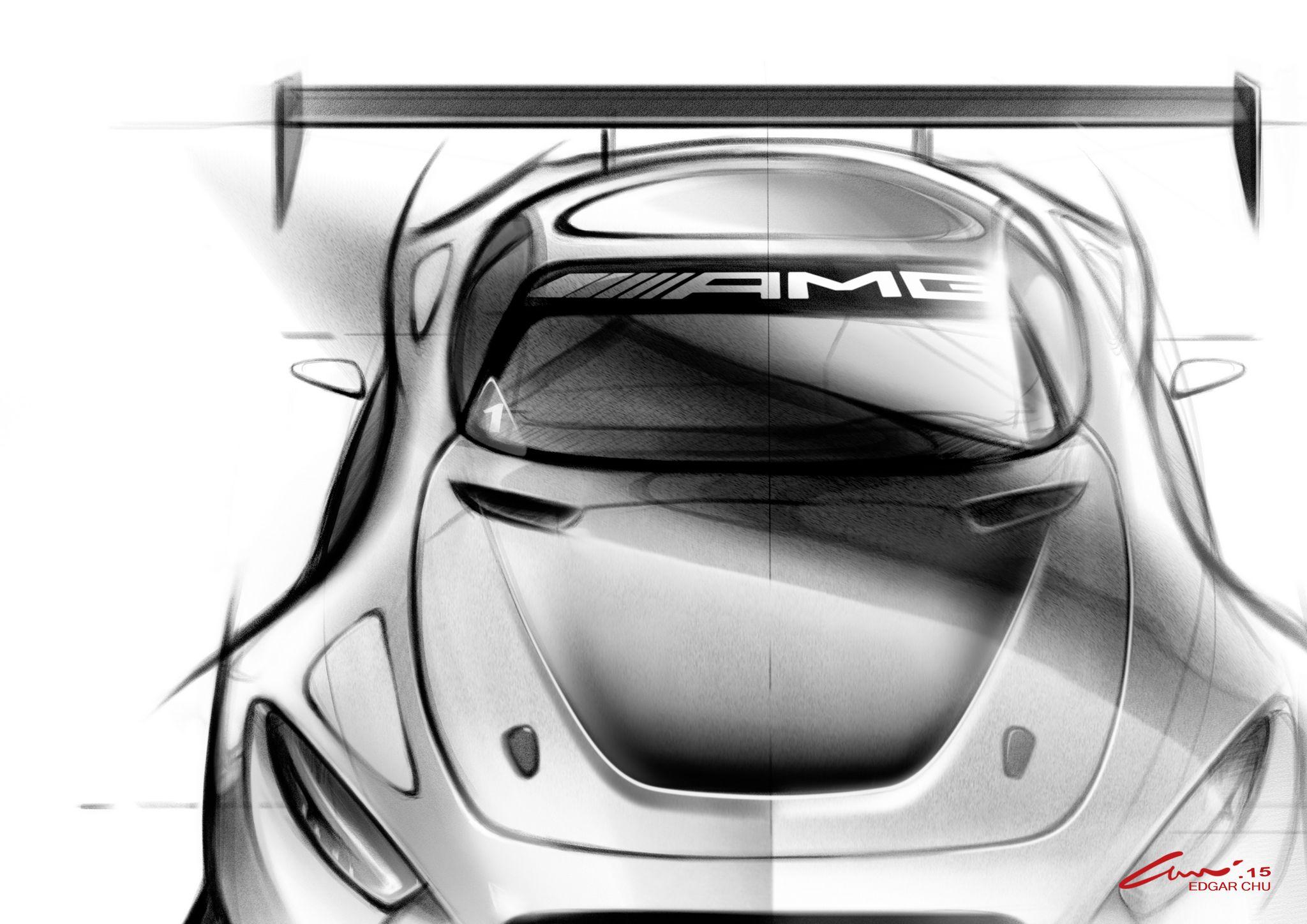 Erster Teaser vom AMG GT 3 (Bild: Daimler AG)