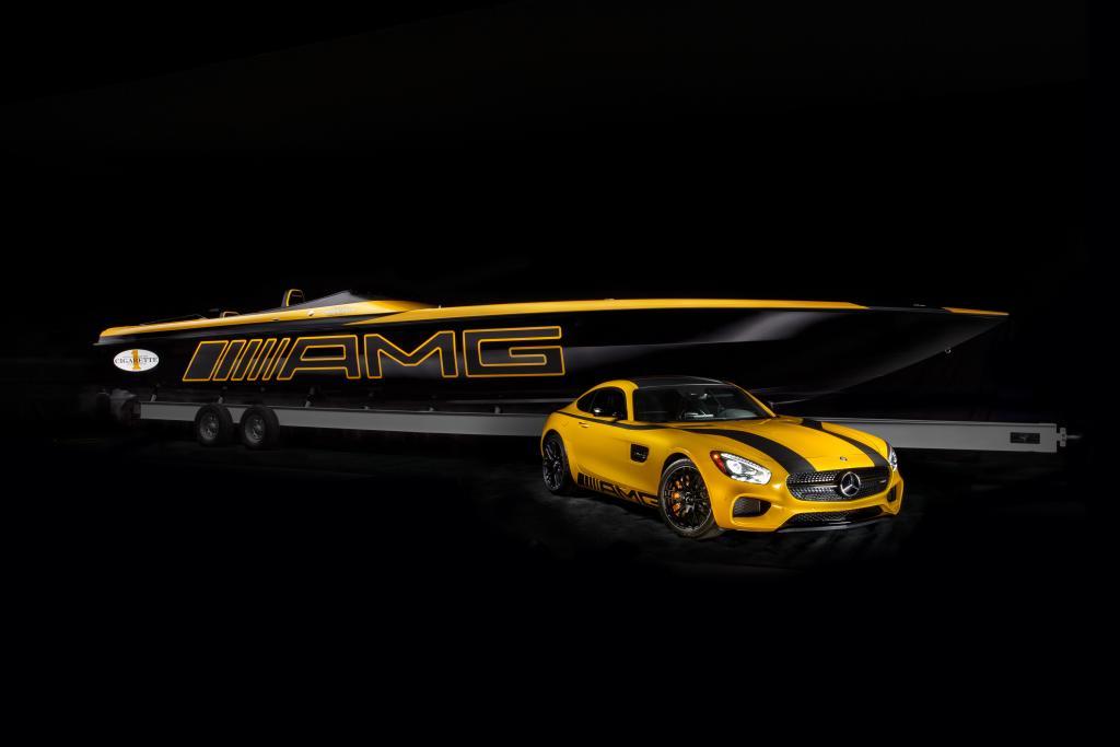 Der AMG für die Fahrt zum Hafen und für's Wasser (Bild: Daimler AG)