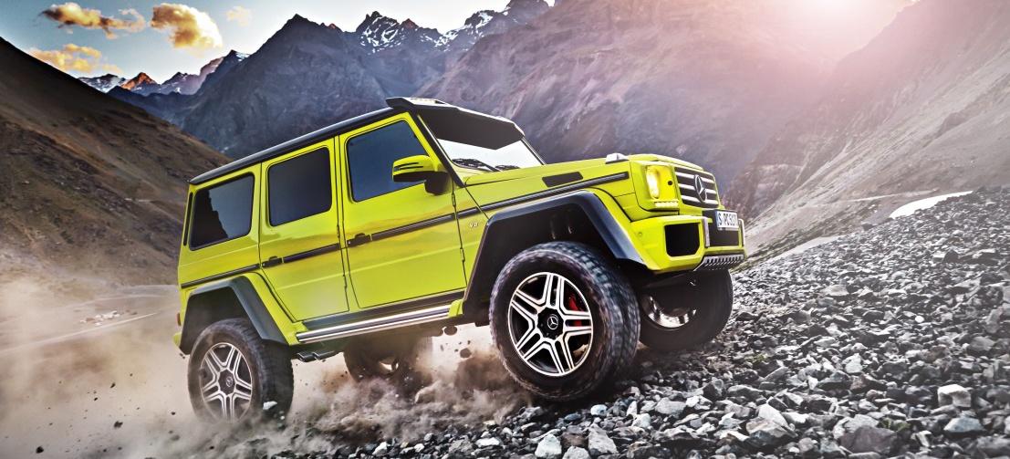 (Noch) ein Showcar: Der G 500 4x4 (Bild: Daimler AG)