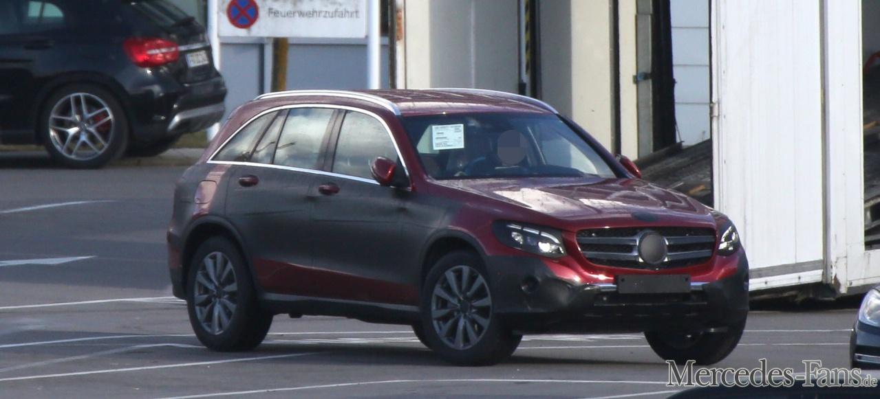 Der Mercedes-GLK-Nachfolger GLC zeigt sich fast ungetrarnt (Bild: Mercedes-Fans.de / S. Baldauf/SB-Medien)