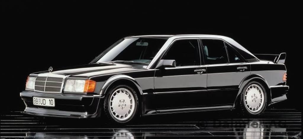 Der 190 E 2.5-16 Evolution von 1989 (Bild: Daimler AG)