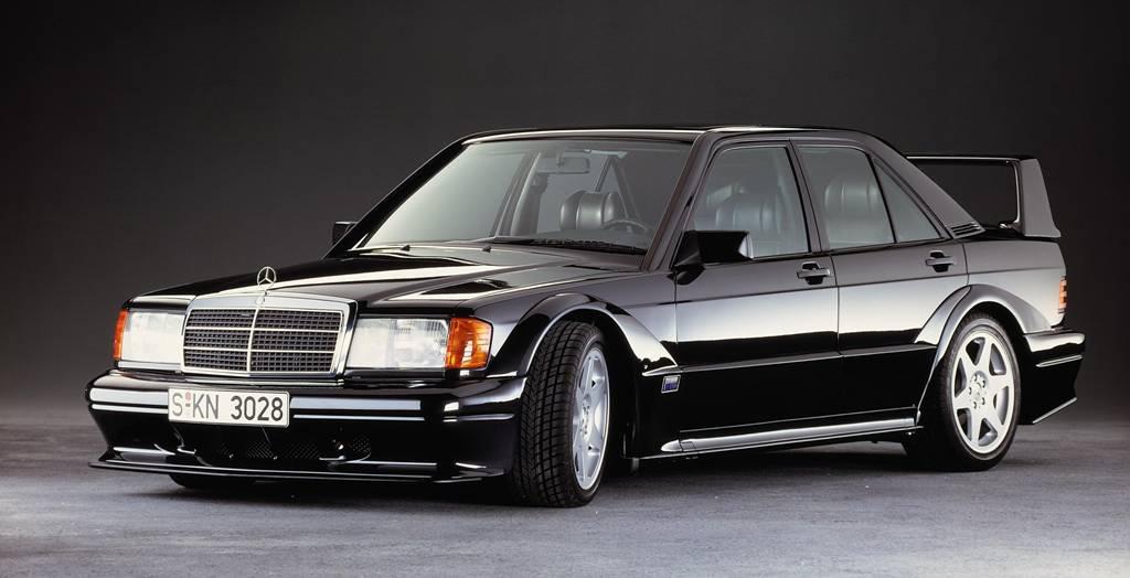 Der 190 E 2.5-16 Evolution II von 1990 (Bild: Daimler AG)