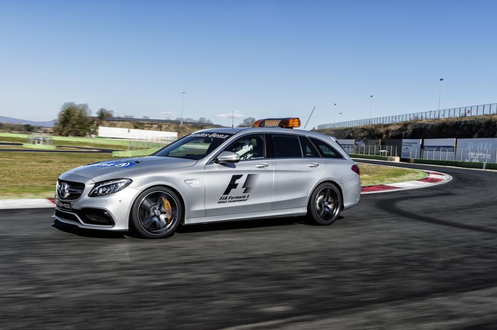 Mercedes-AMG C 63 S T-Modell als Medical Car der FIA Formel 1 Weltmeisterschaft 2015 (Bild: Daimler AG)