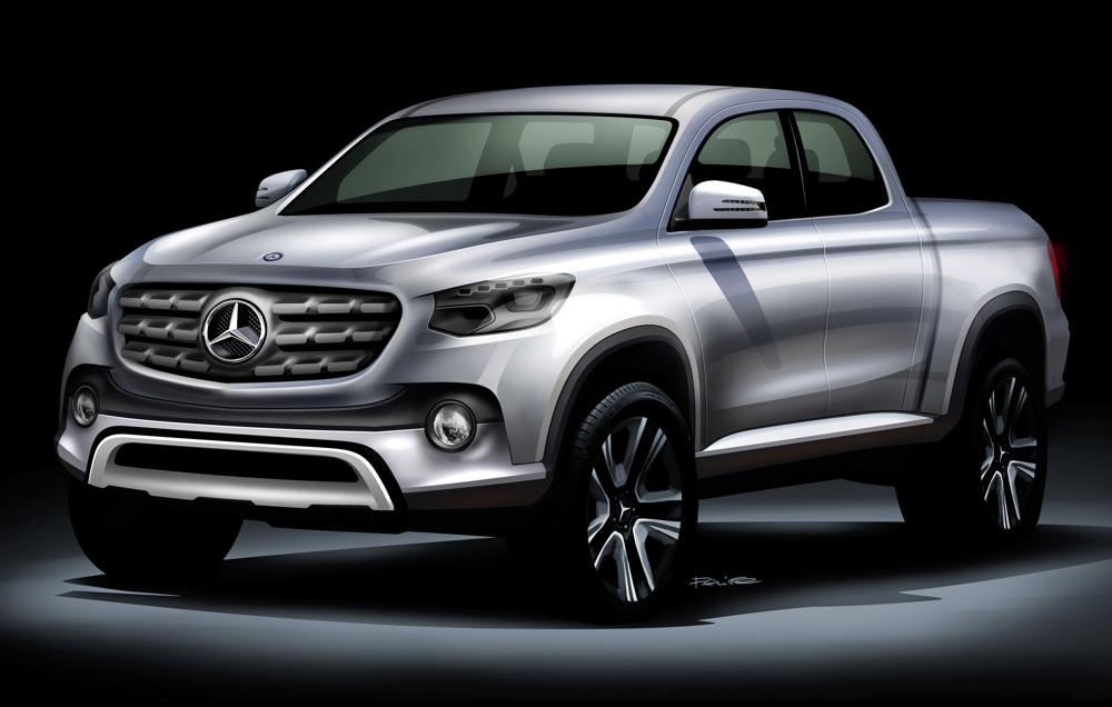 Der neue Mercedes-Benz Pickup als Zeichnung (Bild: Daimler AG)