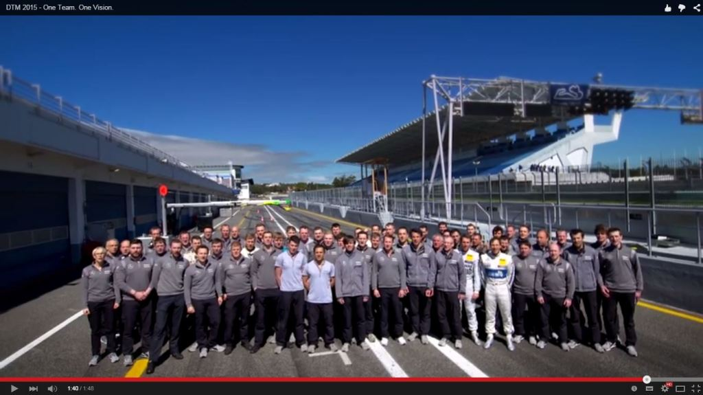 Mercedes DTM Team 2015 (Bild: Daimler AG)