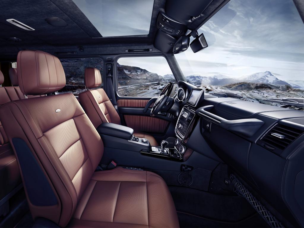 Mercedes-Benz G-Klasse 2015, G 500, Interieur: designo Nappaleder hellbraun (Bild: Daimler AG)