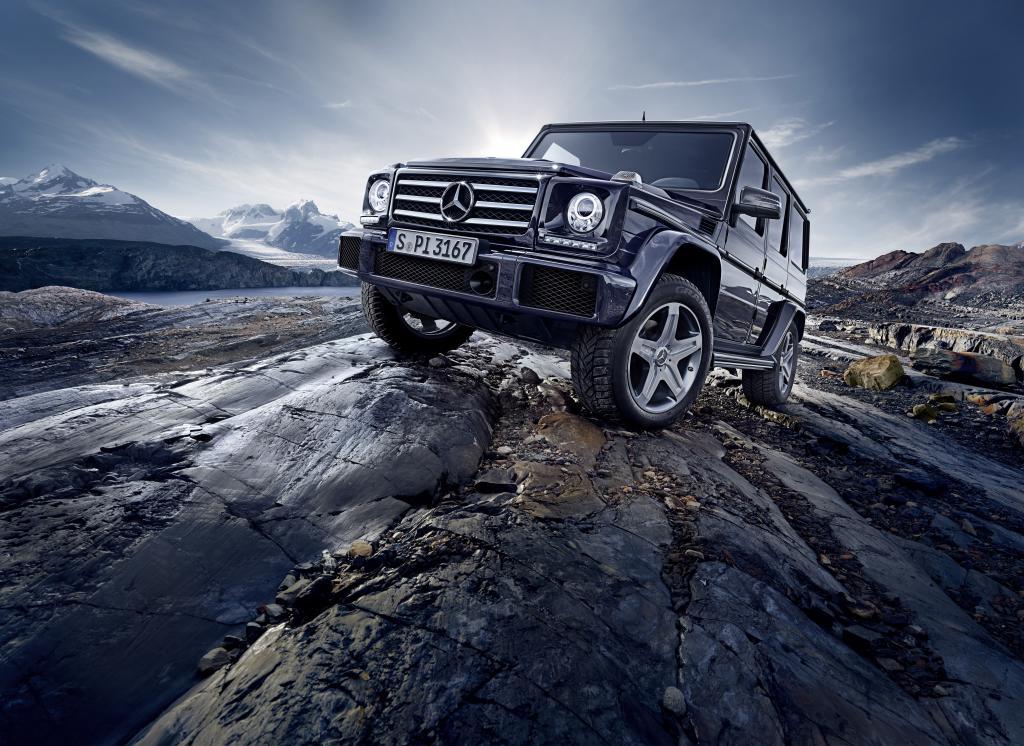 Mercedes-Benz G-Klasse 2015, G 500, Exterieur: obsidianschwarz metallic (Bild: Daimler AG)