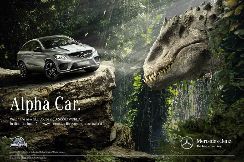 Alpha Car: Das Leitmotiv für den GLE in Jurassic World (Bild: Daimler AG)