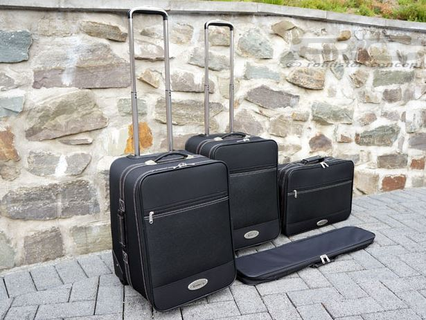 Roadsterbag-Koffer für den SLK R172 in schwarz