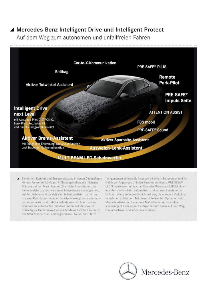 Rundumschutz in der neuen E-Klasse W213 ab 2016 (Bild: Daimler AG)