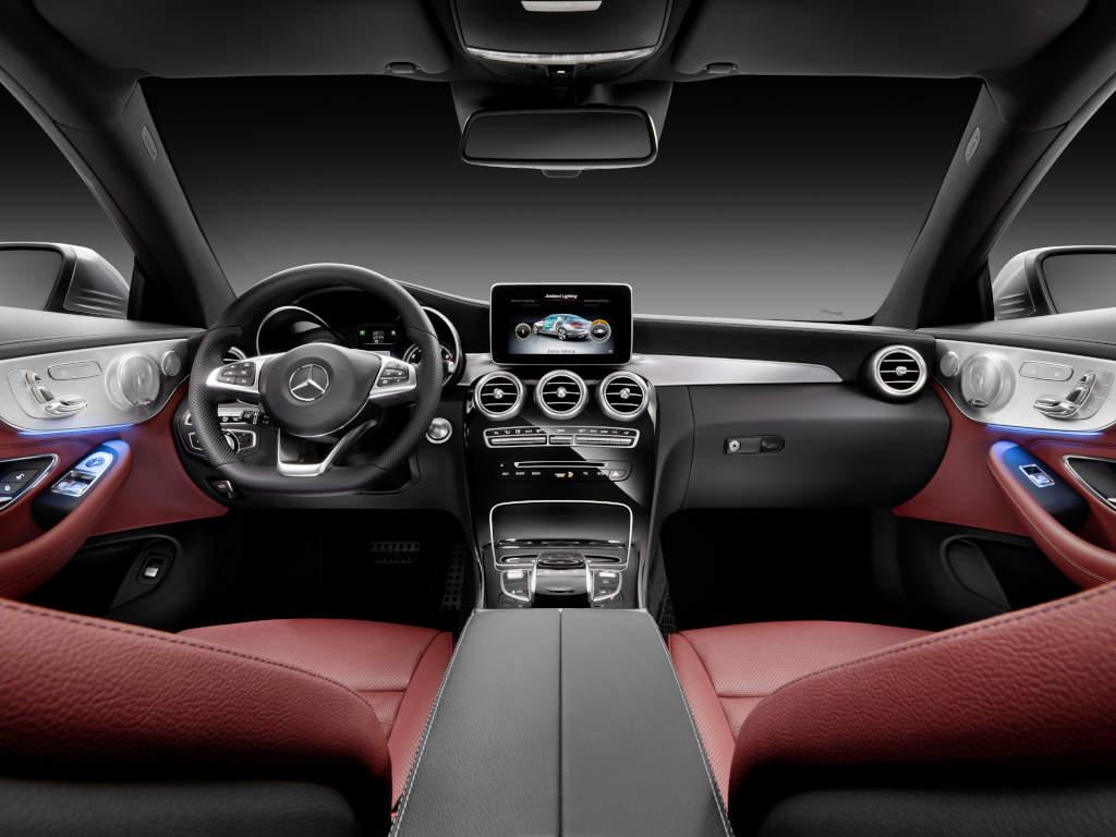 Mercedes-Benz C-Klasse Coupé Leder Cranberry rot (Bild: Daimler AG)