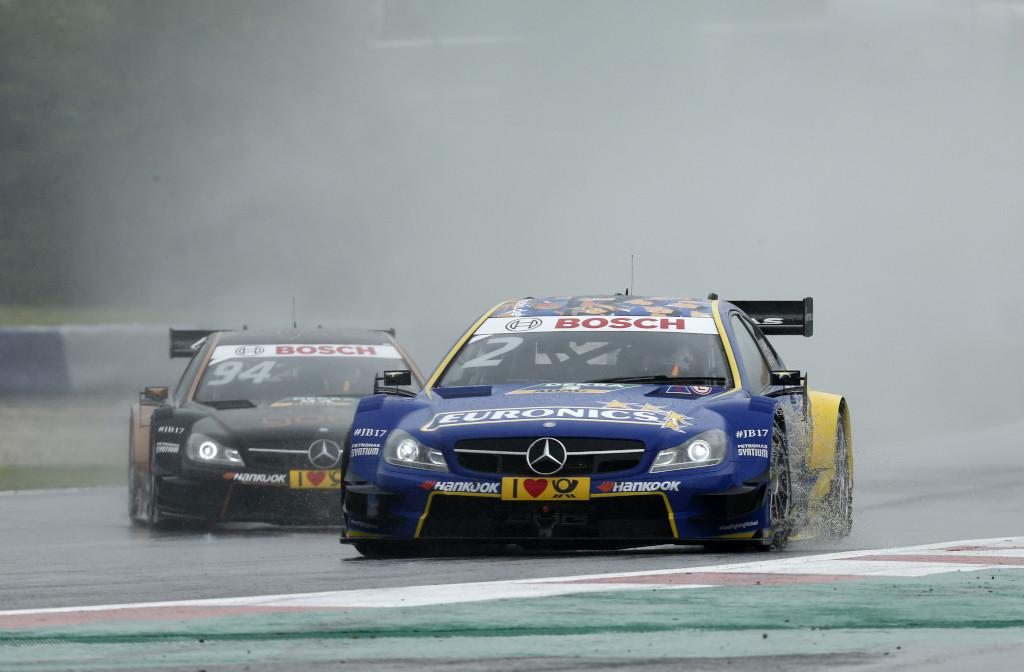 Gary Paffett in Spielberg: Im Regen ein starkes Rennen, nur Ekström war schneller (Bild: Daimler AG)