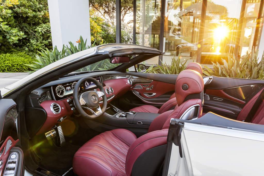 Mercedes-AMG S 63 4MATIC Cabriolet, Interieur: bengalrot/schwarz (Bild: Daimler AG)