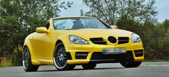 Fein foliert und modelliert: Der SLK 280 von Andras /heute Martin (Bild: SB Medien/Mercedes-Fans.de)