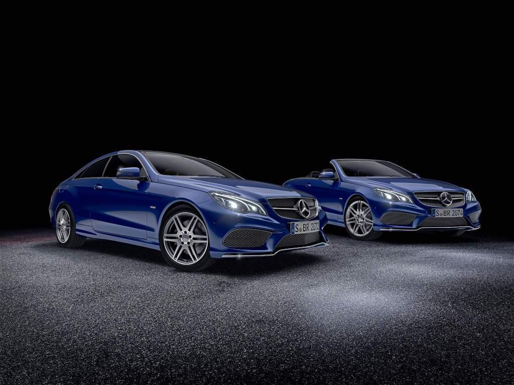 "E-Klasse Cabriolet und Coupé (W212) Sondermodell ""Sport Edition"" in brillantblau (Bild: Daimler AG)"