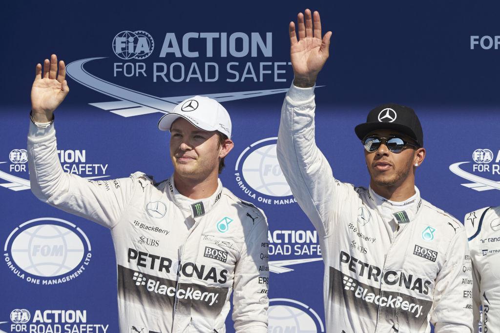 Nico Rosberg und Lewis Hamilton können beim Russland GP 2015 den Konstrukteurs-Titel für Mercedes klar machen (Bild: Daimler AG)