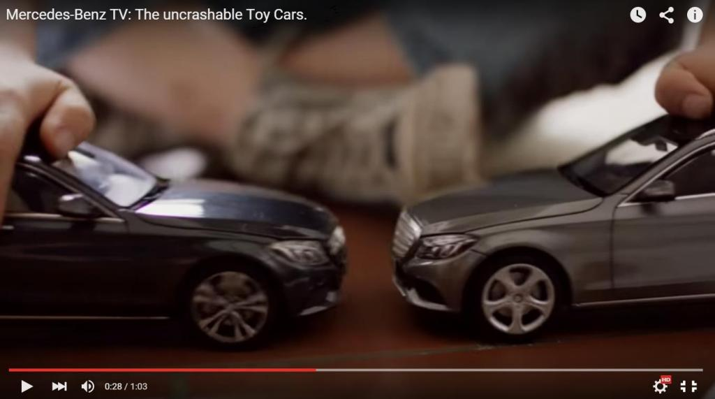 Sie crashen einfach nicht - who loves to crash will hate it! (Bild: Daimler AG, Video)
