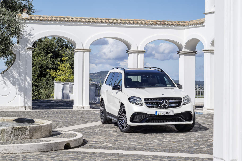 Mercedes-AMG GLS 63 4MATIC in designo diamantweiß bright (Bild: Daimler AG)