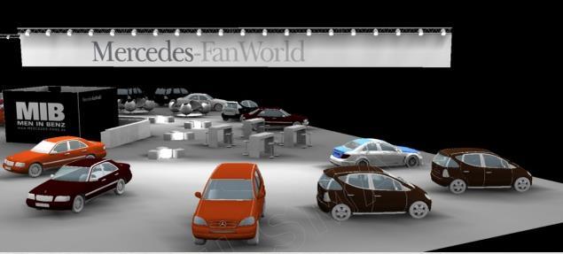 Modell der Mercedes-FanWorld 2015 (Bild: Mercedes-Fans.de)