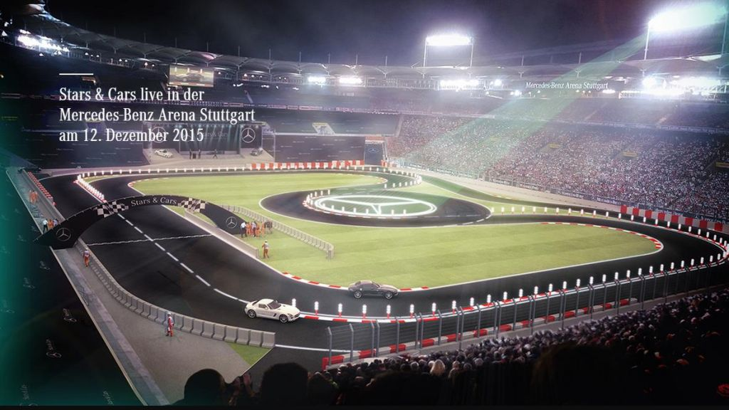 Stars & Cars 2015 - die Meisterfeier bei Mercedes-Benz steigt am 12.12.2015 in der Stuttgarter Mercedes-Benz Arena (Bild:Daimler AG)