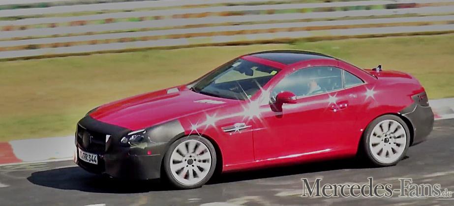 Der SLK (R172) wird zum SLC. Das Topmodell wird der SLC 450 AMG - Achtzylinder gibt es ab 2016 nicht mehr (Bild: Mercedes-Fans.de)