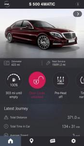 Mercedes me App für Android Handys: Umfangreiche Online Dienste sind möglich (Bild: Daimler AG)