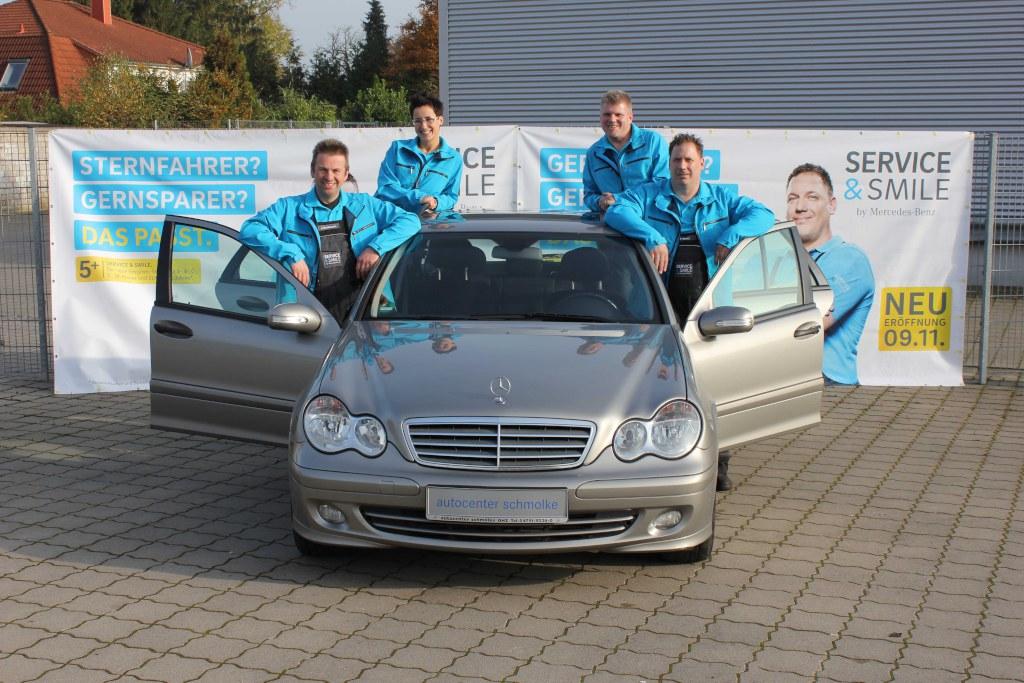 """""""Service & Smile by Mercedes-Benz"""" ist ein Pilotprojekt bei verschiedenen Mercedes-Benz Partnern (Bild: Daimler AG)"""