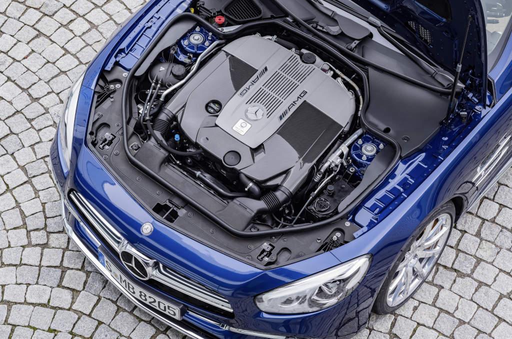 Mercedes-AMG SL 65, Biturbomotor, 463 kW (630 PS),  1000 Nm (Bild: Daimler AG)