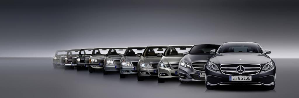 10 Generationen E-Klasse (Bild: Daimler AG)