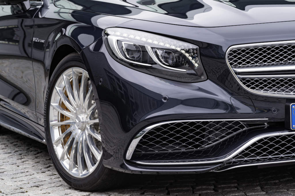 Mercedes-AMG S 65 Cabrio, Exterieur: Anthrazithblau, soft top beige (Bild: Daimler AG)
