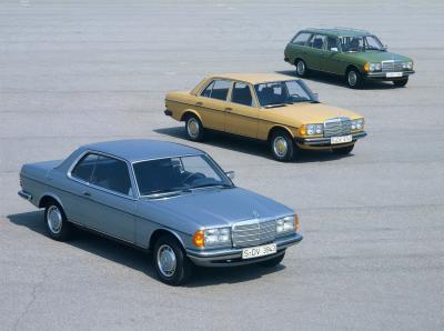 Die W123 Varianten im Überblick (Bild: Daimler AG)