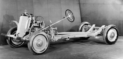 Der Mercedes-Benz 170V, Fahrgestell 1936-1952 (Bild: Daimler AG)