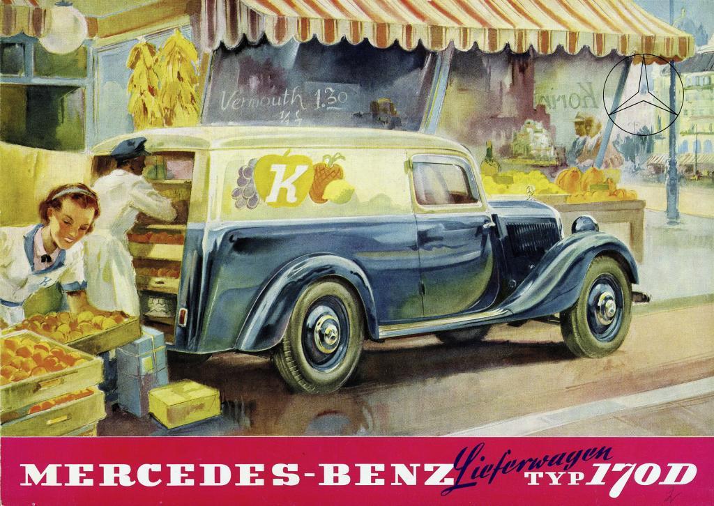 Neustart im Mai 1946: Der Mercedes-Benz 170V als Lieferwagen (Bild: Daimler AG)