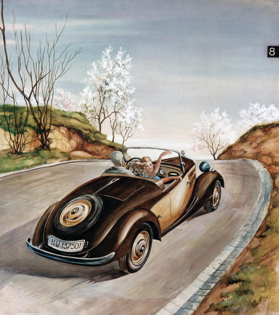 Der Mercedes-Benz 170V  Roadster 1937 (Bild: Daimler AG)