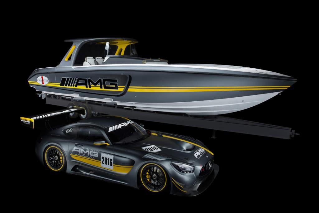 Mercedes-AMG GT3 das leistungsfähigste offene Boot überhaupt, das Cigarette Racing Team 41' SD GT3 (Bild: Daimler AG)