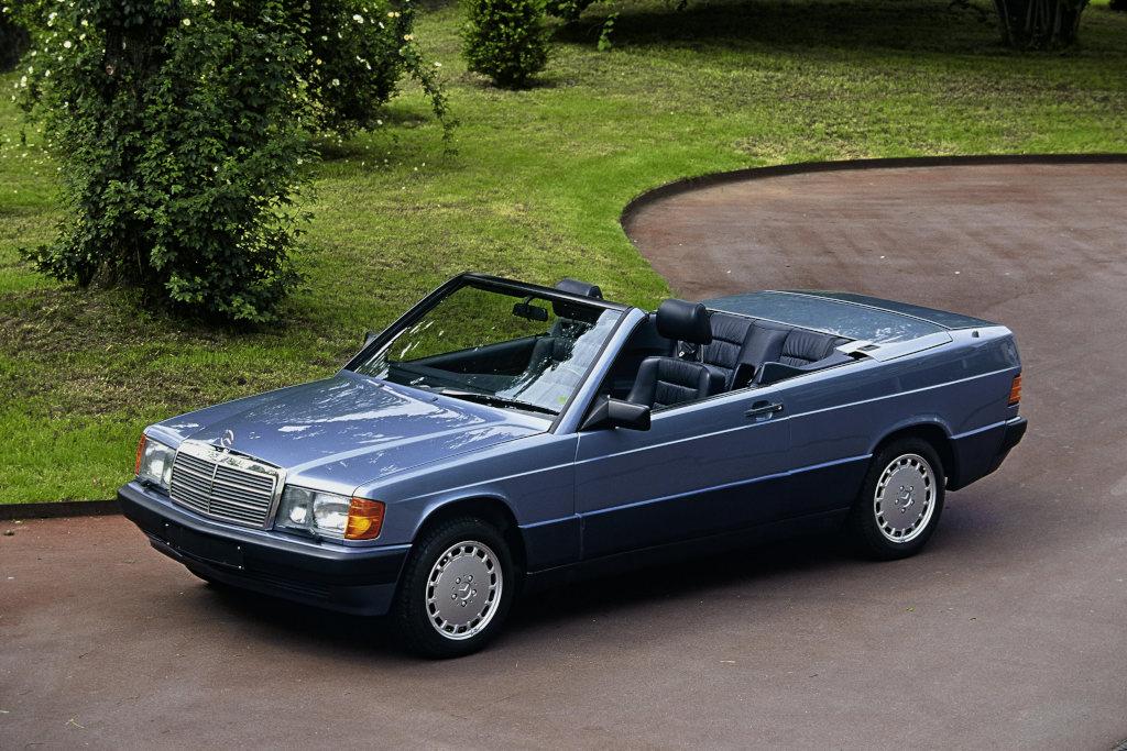 Kam nicht zur Serienreife: Der Prototyp eines W 201 Cabriolets  (190E Cabriolet) von 1990 wie es auf der Retro Classics in Stuttgart zu sehen sein wird (Bild: Daimler AG)