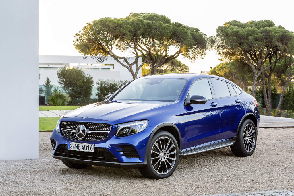 Mercedes-Benz GLC Coupé. Brilliantblau. (Bild: Daimler AG)