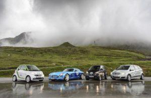Die elektrische Flotte an Daimler PKWs (Bild: Daimler AG)
