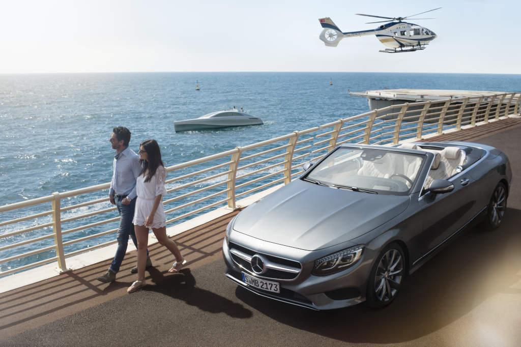 Zu Land, zu Wasser und in der Luft: Mercedes-Benz Style bei Auto, Hubschrauber und Yacht (Bild: Daimler AG)