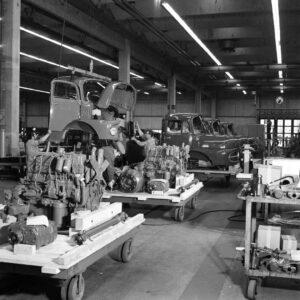 Mercedes-LKW im Bausatz (CKD) haben eine lange Tradition im Werk Wörth (Bild: Daimler AG)