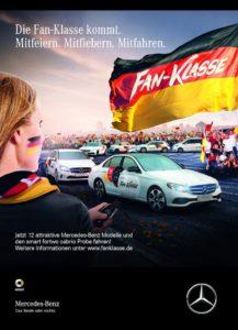 """Die """"Fan-Klasse"""" zieht zur Fußball-EM durch Deutschland (Bild: Daimler AG)"""