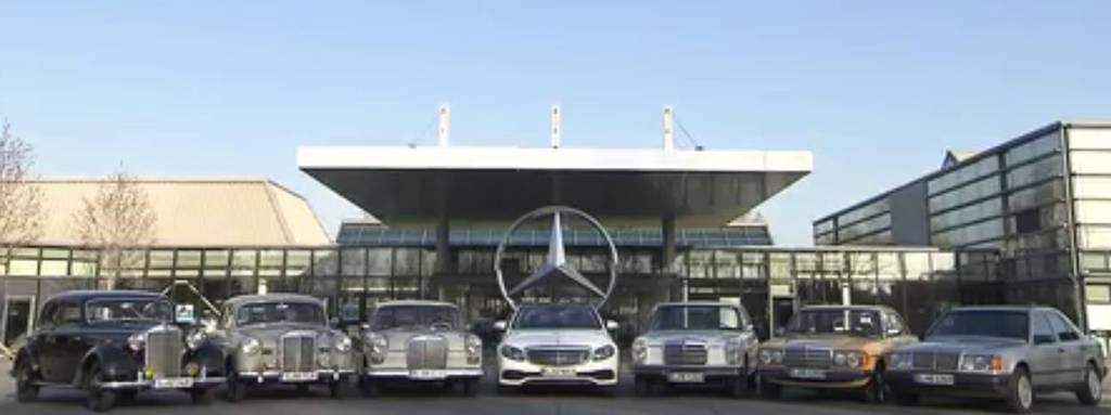 E-Klassen von 1936 bis 2016 (Bild: Daimler AG)