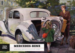 Wirtschaftswunder-Wagen, Mercedes-Benz Typ 170 V, W 136 I, ab 1947 (Bild: Daimler AG)