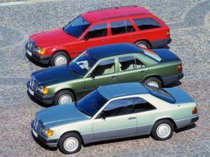 Mercedes-Benz E-Klasse W 124, Coupé, Limousine und Kombi, 1984 bis 1996 (Bild: Daimler AG)