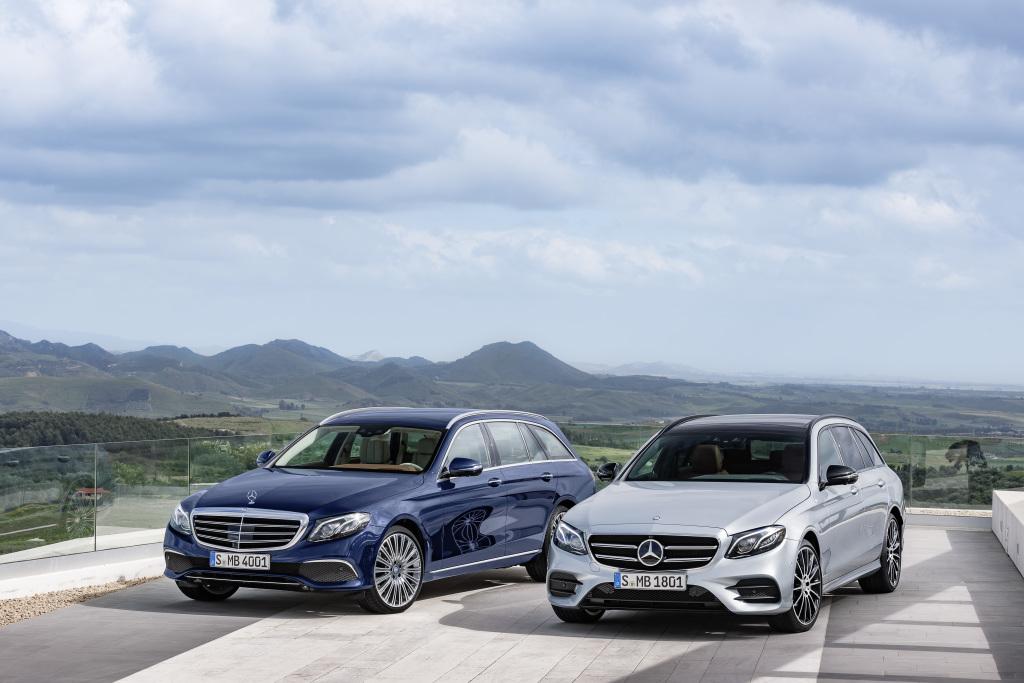 Mercedes-Benz E-Klasse T-Modell, S 213, E Klasse T-Modell mit AMG Line (silber) (Bild: Daimler AG)