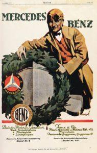 Ehe von Kranz und Stern: Die Unternehmen Benz & Cie. und Daimler-Motoren-Gesellschaft schließen sich 1926 zusammen. Bereits 1925 entsteht die gemeinsame Vertriebsorganisation, für die diese Anzeige wirbt (Bild: Daimler AG)
